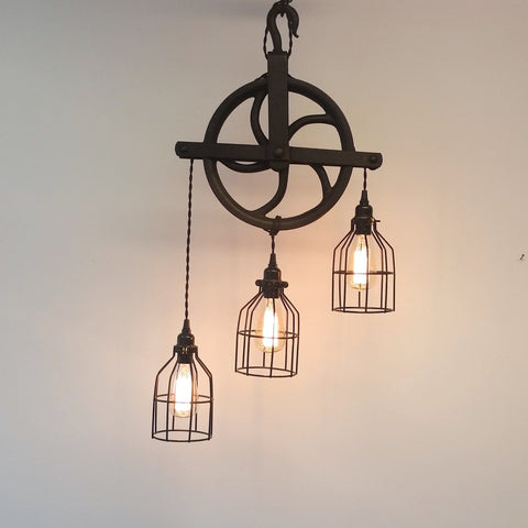 Industrial Modern Gin Light With Three Pendants