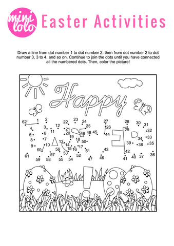 Dot to Dot Happy Easter Mini Lolo