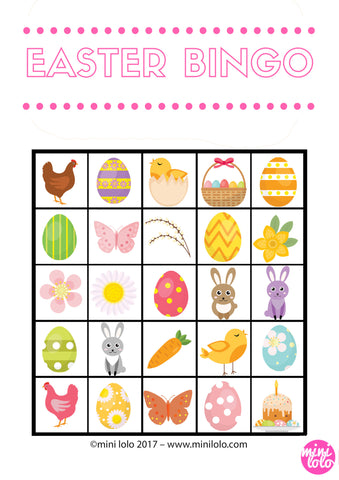 Easter Bingo Mini Lolo