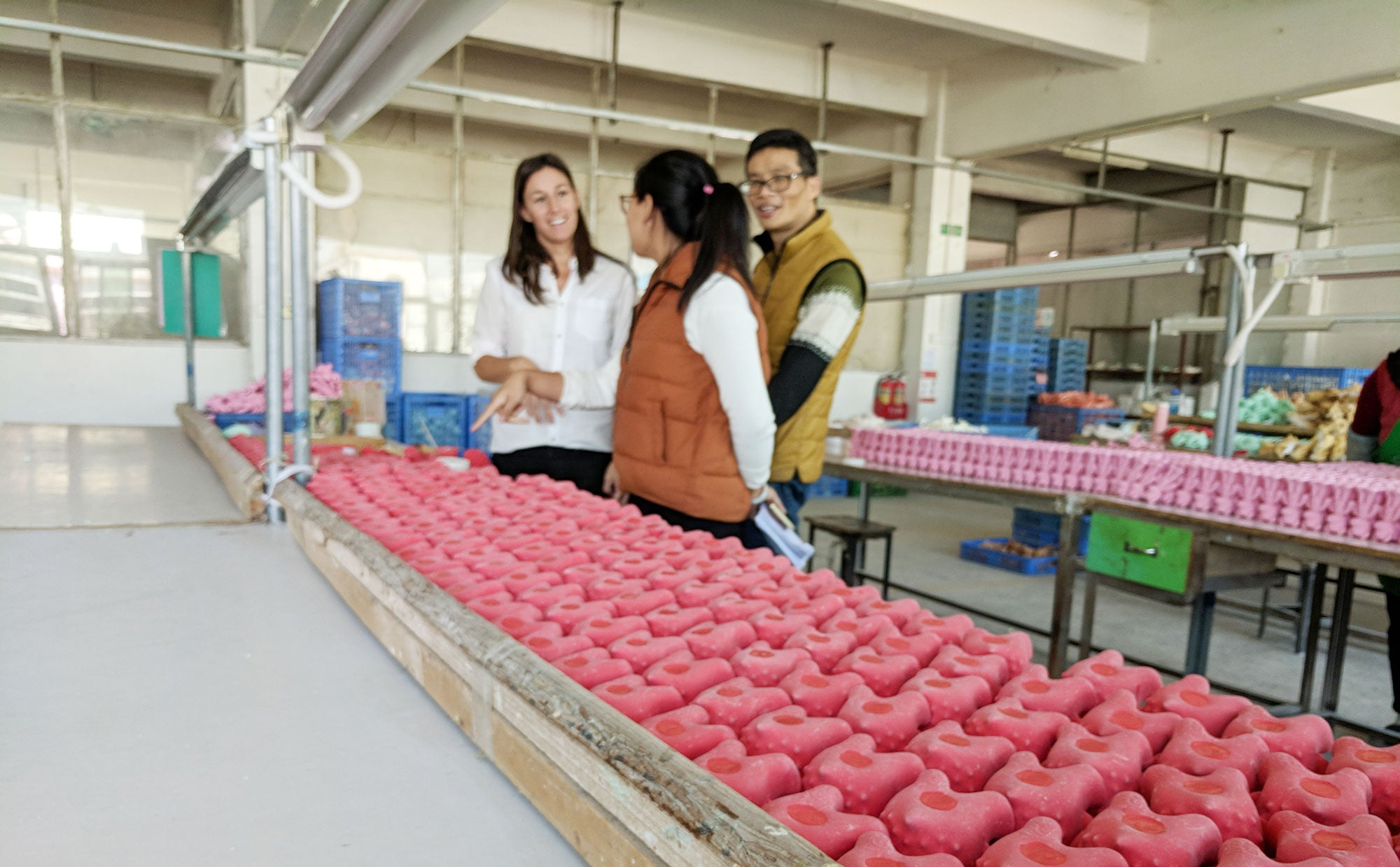 Visiting our factory in China