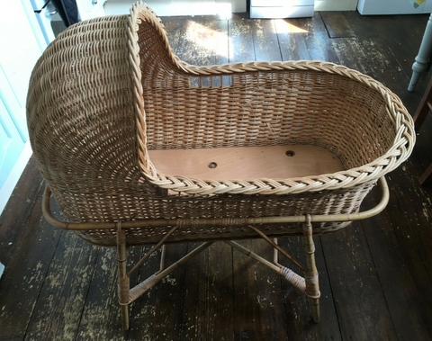 Willa and The Bear Blog | Vintage Wicker Cot