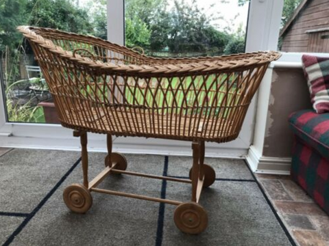 Willa and The Bear Blog | Ebay Vintage Wicker Cot