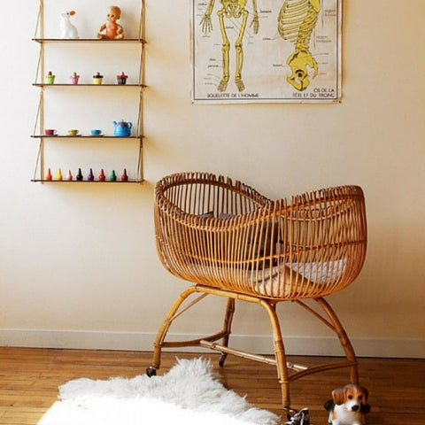 sixties wicker crib