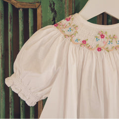 hand smocked and embroidered Vera Nightie