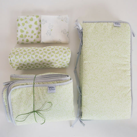 nursery essentials gift set in green