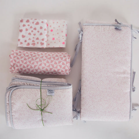 nursery essentials gift set in pinks