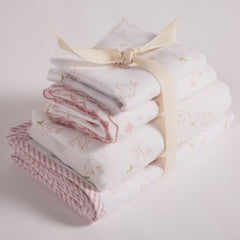 hand block printed bedding bundle gift set