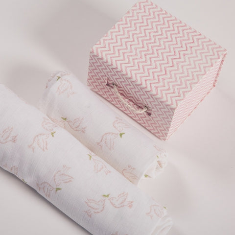 gift set of two muslin sheets