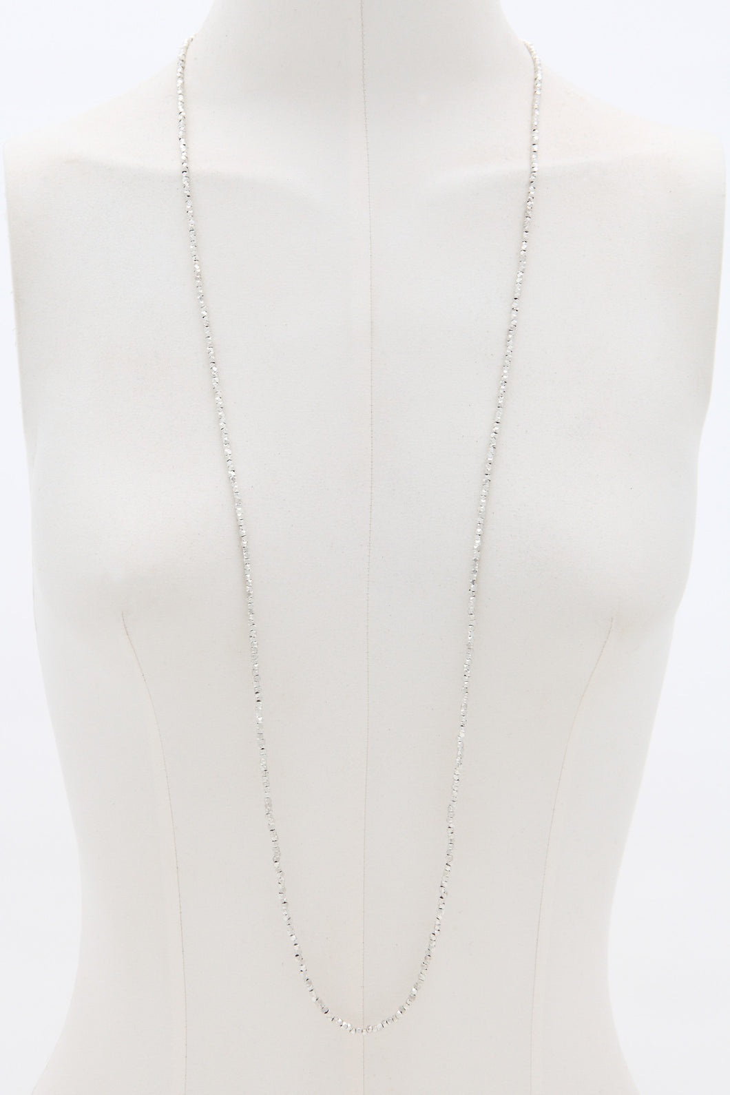 Moksha silver diamond cut necklace - Mie-Style