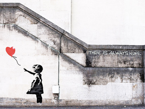 Banksy's There is Always Hope - The Meaning Behind The Art