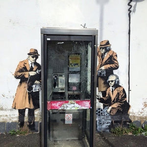 Banksy Cheltenham Telephone Box Spies - The Meaning Behind The Art