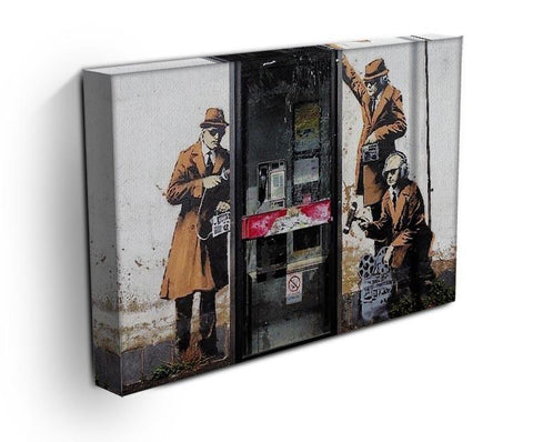 Banksy Cheltenham Telephone Box Spies Canvas Print or Poster