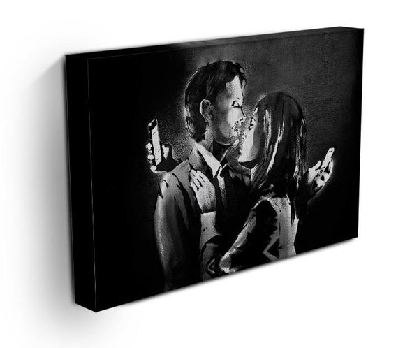 Banksy Mobile Lovers Canvas