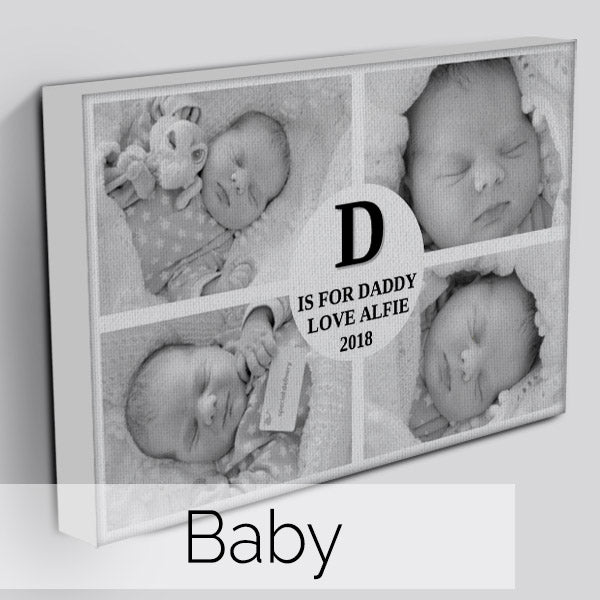 Personalised Photo Baby Canvas Art