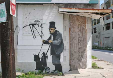 Banksy Abraham Lincoln - New Orleans, USA