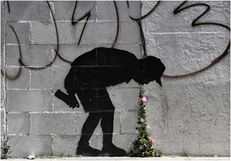 Banksy Better Out Than In - Los Angeles, California, USA