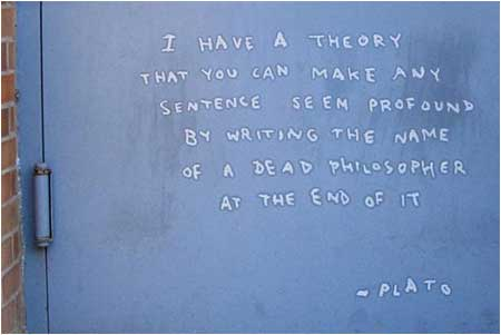 Banksy Fake Plato Quote Graffiti - New York, USA