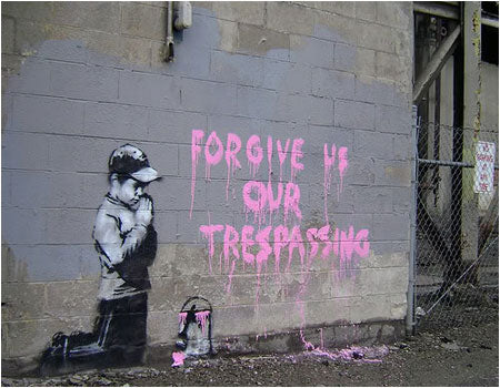 Banksy Forgive Us Our Trespassing Graffiti - Salt Lake City, USA