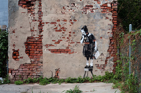 Banksy Girl and Mouse - New Orleans, USA