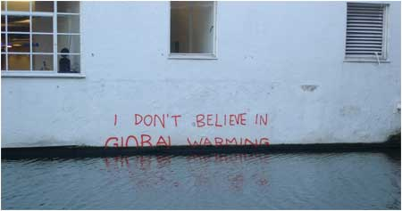Banksy I Don't Believe in Global Warming Graffiti - London