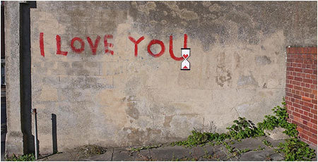 Banksy I Love You Graffiti - Isle of Wight