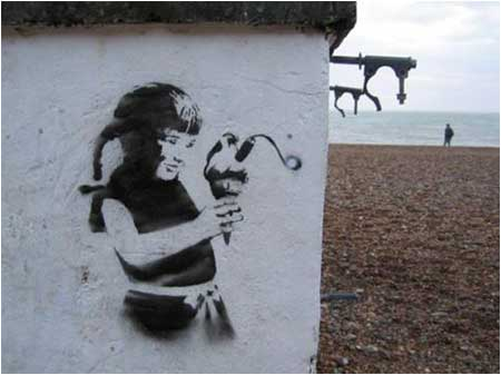 Banksy Ice Cream Bomb Graffiti – Brighton, UK