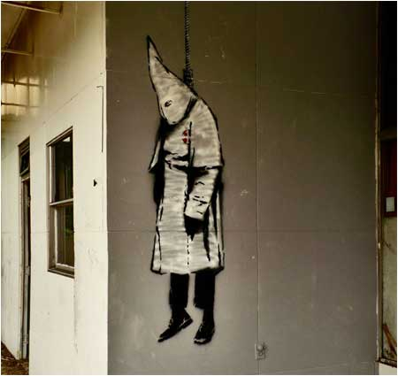 Banksy KKK Graffiti – Birmingham, Alabama, USA