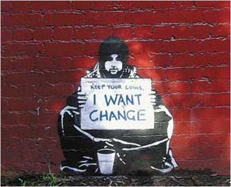 Banksy Keep Your Coins, I Want Change Graffiti - Melbourne, Australia