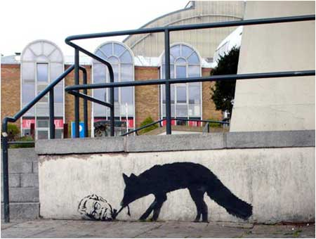 Banksy Kentucky Fox Graffiti - London
