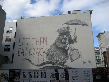 Banksy Let Them Eat Crack Graffiti – New York, USA
