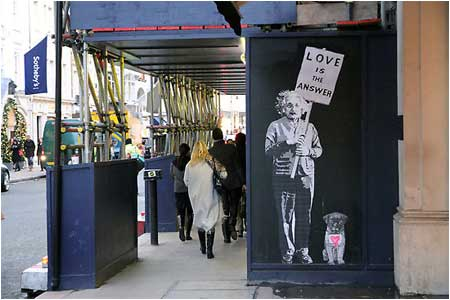 Banksy Love is the Answer Graffiti