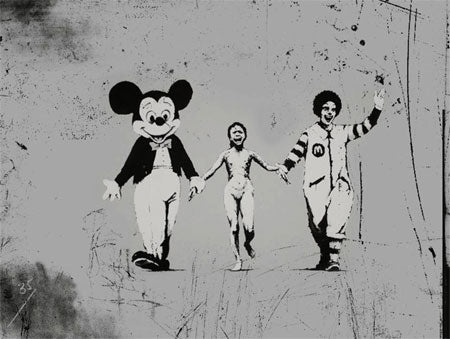 Banksy Napalm Girl Graffiti
