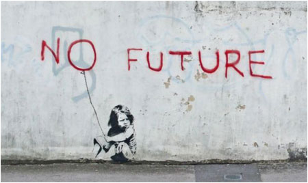 Banksy No Future Graffiti - Southampton, UK