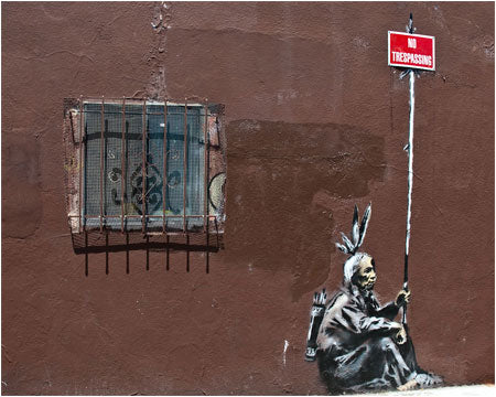 Banksy No Trespassing Graffiti - San Francisco, USA