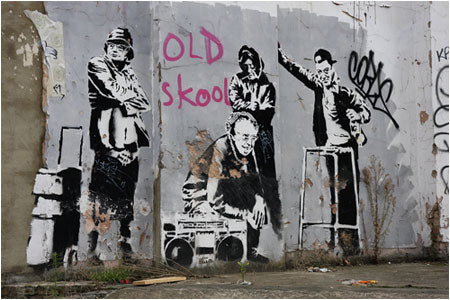 Banksy Old Skool Graffiti - Clerkenwell Road, London