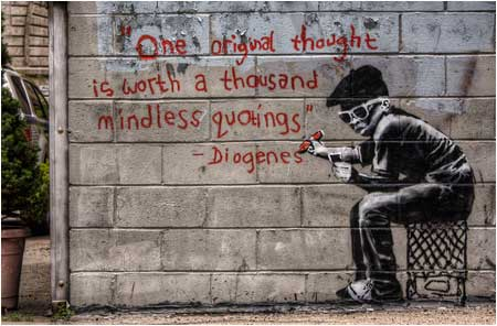 Banksy One Original Thought Graffiti - Brooklyn, New York