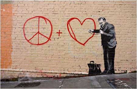 Banksy Peaceful Hearts Doctor - San Francisco, California