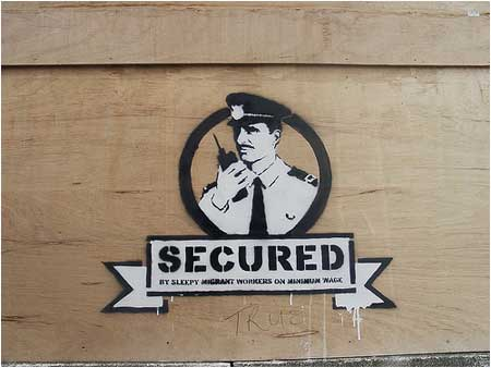 Banksy Secured Security Guard Graffiti - Liverpool