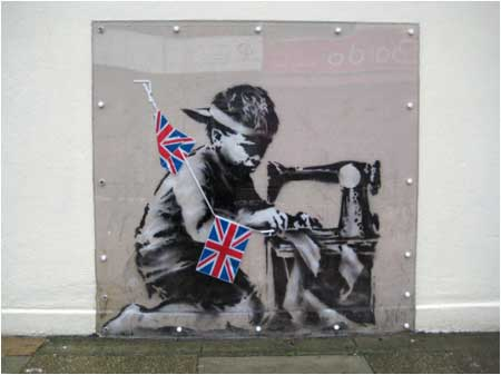 Banksy Slave Labour Graffiti - Wood Green, London