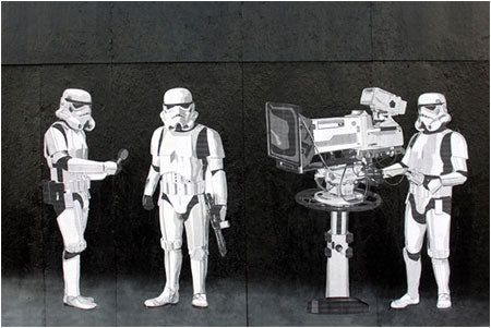 Banksy Stormtroopers Filming the Oscars - Hollywood, USA