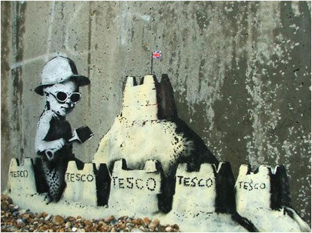 Banksy Tesco Sandcastle - Hastings, Kent