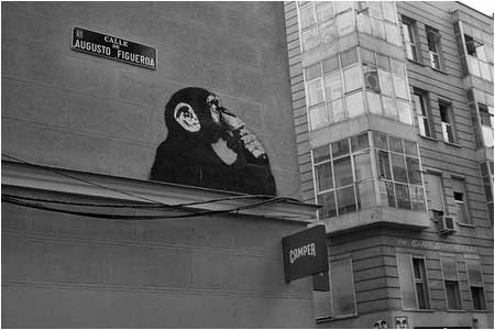 Banksy The Thinker Monkey Graffiti