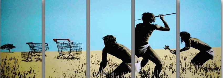 Banksy 5 Split Panel Canvas Prints