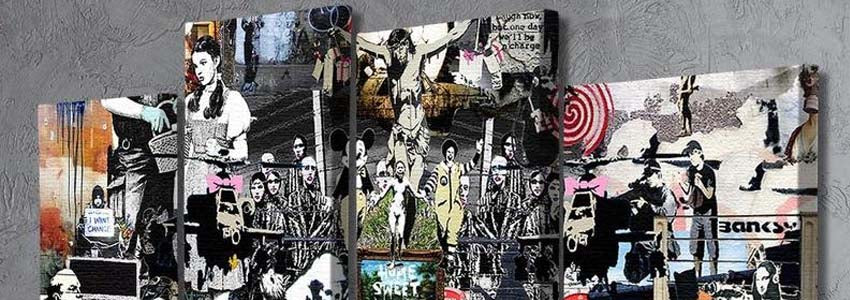 Banksy 4 Split Panel Canvas Prints