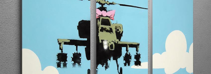 Banksy Multi Panel Canvas