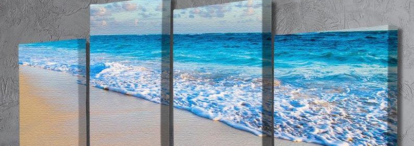 Beach 4 Split Panel Canvas Prints