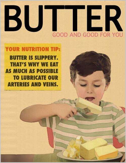 Butter is good for you vintage ad