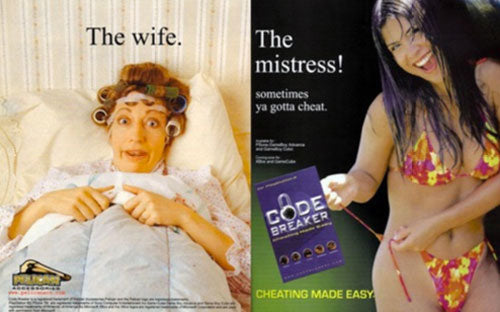 Cheating made easy vintage ad