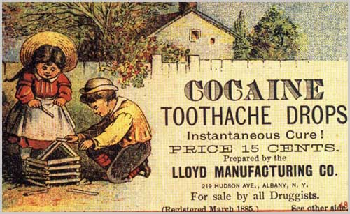 Cocaine tooth drops vintage ad