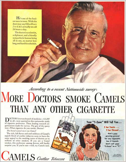 Doctors smoke Camels Vintage advert